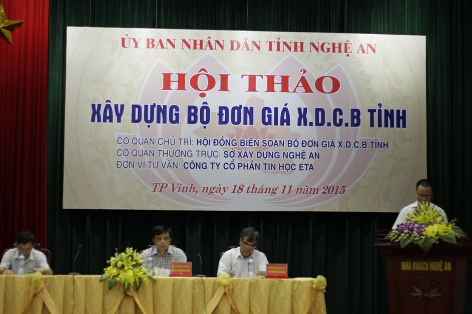 Hội thảo Đơn giá XDCT tỉnh Nghệ An